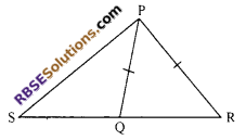RBSE Solutions for Class 9 Maths Chapter 7 Congruence and Inequalities of Triangles Miscellaneous Exercise 13