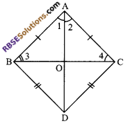 RBSE Solutions for Class 9 Maths Chapter 7 Congruence and Inequalities of Triangles Miscellaneous Exercise 5