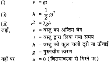RBSE Solutions for Class 9 Science Chapter 10 गुरुत्वाकर्षण 12