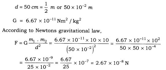 RBSE Solutions for Class 9 Science Chapter 10 Gravitation 2