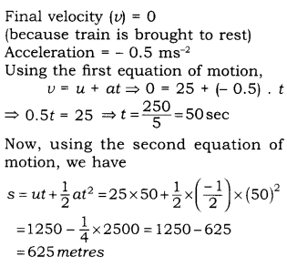 RBSE Solutions for Class 9 Science Chapter 9 Force and Motion 18