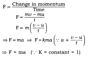 RBSE Solutions for Class 9 Science Chapter 9 Force and Motion 9
